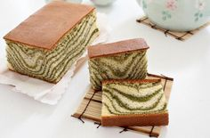 Foodista | Recipes, Cooking Tips, and Food News | Matcha Marble Castella Cake