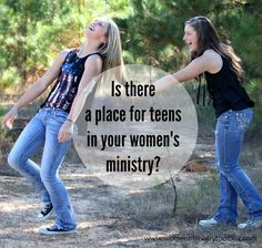 Wondering where and how teens might fit in with your women's ministry? Check out these ideas from Women's Ministry Toolbox.