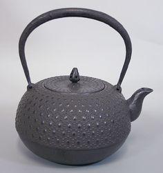 薫山工房 亀甲袋型鉄瓶Kikko futongata Tetsubin kettle by Kunzan