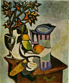 Pablo Picasso 'Still Life of Pitcher, Fruit and Flowers' 1930's