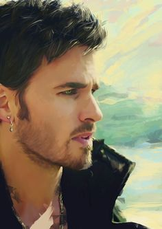 "Captain Hook Art Print by Alba Palacio Me-""OH.MY.GOD.THIS IS PERFECT!!!!!! (For those of you who don't know me I'm obsessed with Colin O'donoghue...)"""