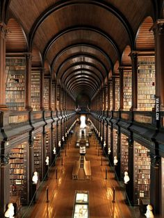 Everybody is posting pictures of libraries, so here is my University's old library (Trinity College Dublin). - 9GAG