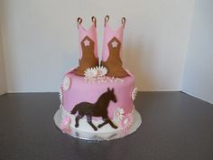 Cowgirl Western Birthday cake