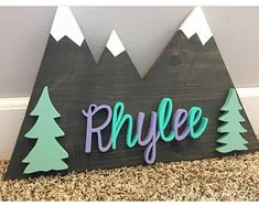Woodland Nursery + Mountains Wood Sign + Home Decor + Custom Wood Sign + Wander Mountains + Nursery Decor + Baby Shower Gift + Cabin Decor