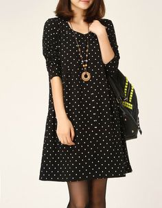Cotton dress long sleeve dress cotton tops large size dress casual loose dress cotton shirt linen dress cotton blouse plus size dress -Black op Etsy, £36.71