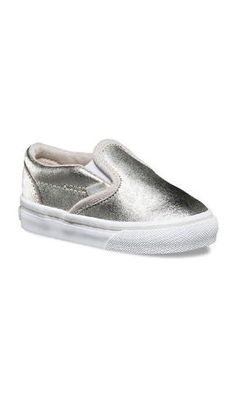 18b12919224aca Vans Kids Classic Slip-on Metallic Silver