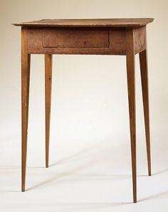 Southern Side Table with Drawer. Yellow Pine. Georgia. Circa 1850. ~♥~