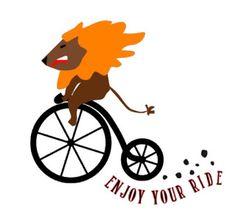 Free plotter Leon en bici. Vinilo , archivo para Silhouette