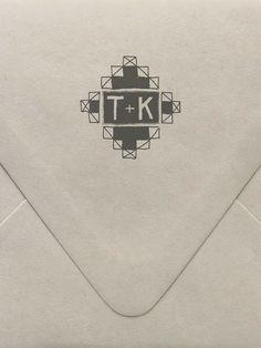 Geometric Monogram Custom Stamp