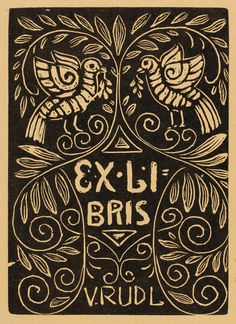 M. D. Gjuric, Art-exlibris.net Ex Libris, Woodcut Art, Linocut Prints, Book Design, Design Art, Graphic Design, Book Of Kells, Illuminated Letters, Wood Engraving