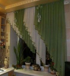 Kitchen Window Curtains Valances Interior Design 39 New Ideas Kitchen Window Treatments With Blinds, Kitchen Window Curtains, Home Curtains, Hanging Curtains, Sheer Curtains, Window Coverings, Valance Curtains, Drapery Designs, Curtain Styles