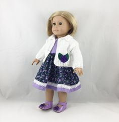 18 Inch American Girl Doll Clothes White Hand by dressurdolly2