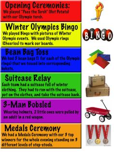 Olympics activities FUN IDEAS with a group!