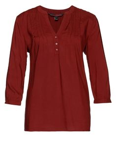 TOM TAILOR DENIM Bluse cabernet bordeaux red Bekleidung bei Zalando.de | Material Oberstoff: 100% Viskose | Bekleidung jetzt versandkostenfrei bei Zalando.de bestellen!