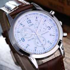 2017 Top Luxury Brand Business Men's Business Watches Leather Strap Multi-function Dial Waterproof Quartz Watch Relogio Masculio