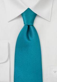 Einfarbige Krawatte Türkis