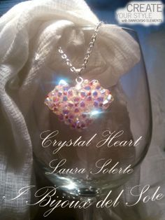Crystal Heart: crystal swarovski and japanese beads