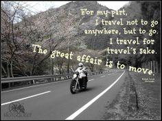 Travel for travel´s sake..   www. motoquest.com