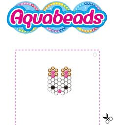 Aquabeads Chocolate Rabbit Template