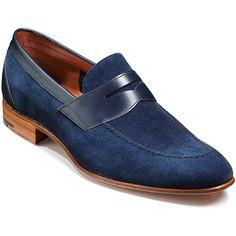 Barker Shoes – Dodmoor Penny Loafer – Navy Suede