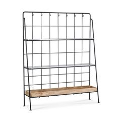 Swoon Editions Shelving unit, modern country style in Mango wood and iron - £399