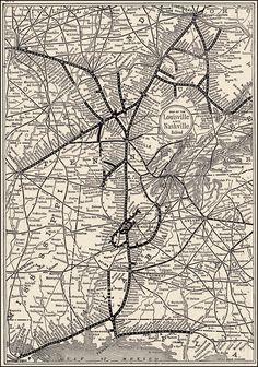 Louisville & Nashville Railroad, 1895 system map