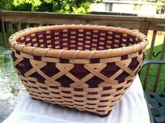 18x18x9in Double Walled Aubergine Basket by BakeryAndBaskets, $250.00