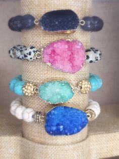 Druzy druzy jewelry druzy bracelets drusy by OCEANBELLAHAWAII