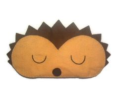 Augenmaske Igel Igel-Schlafmaske Tier Maske Filz Auge von NipNopz