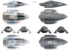 Future-Janeway's heavy-armor-plated shuttle at the end of the Voyager's series.