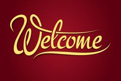 Welcome hand lettering sign by Microvector on Creative Market Welcome Font, Welcome Back Banner, Welcome Home Banners, Viria, Best Templates, Origami Templates, Card Templates, Victorian Flowers, Church Banners