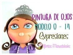 Básicos - Pintura de ojos Moldelo O - 14 - Expresiones #TijeritasManualidades - YouTube