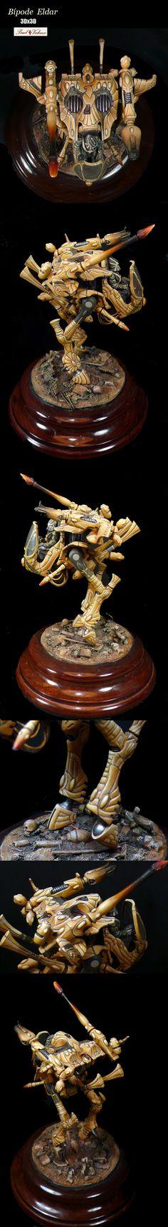 Bípode Eldar 3Dx3D, Warwalker. Warhammer 40k Miniatures.