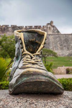 Botas Viejas Castillo San Felipe de Barajas, Cartagena Colombia