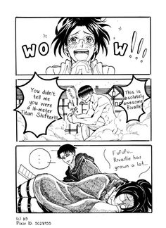 Read from the story LeviHan Historietas by with reads. Attack On Titan Comic, Attack On Titan Ships, Titan Manga, Cosplay Meme, Tokyo Ghoul, Hanji And Levi, Eremika, Rivamika, Mini Comic