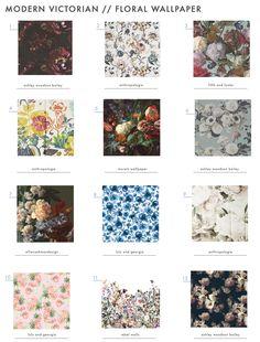 Our favorite floral modern victorian wallpaper. #wallpaper #floral
