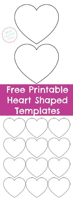 Heart template (many different sizes) Printable Pinterest - macaron template