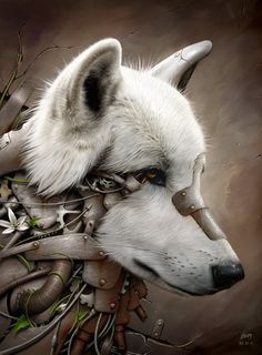 Want to discover art related to steampunk? Check out inspiring examples of steampunk artwork on DeviantArt, and get inspired by our community of talented artists. Anime Wolf, Wolf Spirit, Spirit Animal, Fantasy Wolf, Fantasy Art, Fantasy Creatures, Mythical Creatures, Mago Tattoo, Steampunk Kunst