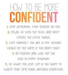 #beingconfident