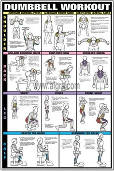 Thursday Ezra Workout Plan Dumbbell workout, Workout posters workout plans with dumbbells - Workout Plans Fitness Workouts, At Home Workouts, Fitness Motivation, Calf Workouts, Exercise Workouts, Workout Routines, Training Workouts, Body Workouts, Bodybuilding Training