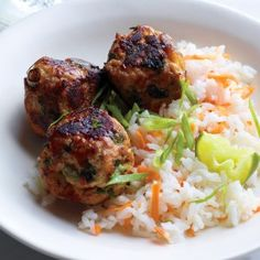 Asian Turkey Meatballs - these are great without a sauce, with lots of interesting flavors.