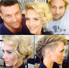New look: Aussie actress Nicky Whelan shared her edgy new Mohawk hairdo and a cute pictiur...