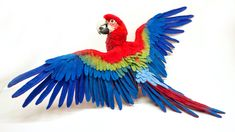 Needle felted greenwing macaw by TheWoolenWagon on Etsy