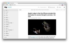 The news aggregator, Digg has unveiled a new Reader extension for Google Chrome to accompany its RSS reader.