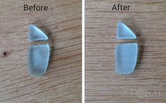 filing your cut sea glass or sotne using a diamond EZE-Lap hone. You can also do this using a diamond file.