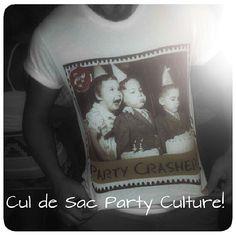 CuldeSac Culture Premium Tees & Apparel  Summer 2013 design : Party Crasher $39  www.cdsculture.com Summer 2014, Culture, Tees, Instagram Posts, Party, Collection, Design, T Shirts