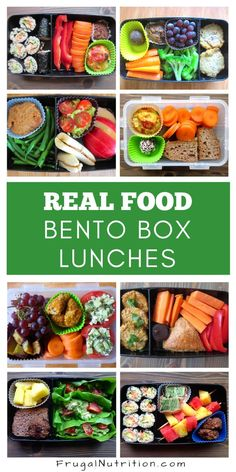Looking for inspiration for healthy, real food lunches? These bento box lunches are easy to assemble, fun and nutritious Healthy Lunches For Work, Healthy Meal Prep, Healthy Snacks, Healthy Eating, Healthy Recipes, Healthy Habits, Healthy Choices, Delicious Recipes, Lunch Snacks
