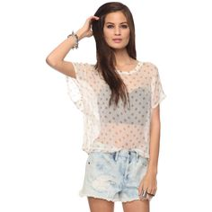 Oversized Polka Dot Top from F21; just got it in the mail- love it