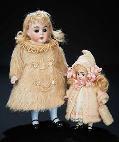Let the Music Begin!: 136 German All-Bisque Doll,Model 150,by Kestner with Fine Antique Costume