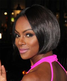 Tika Sumpter Hairstyle - Formal Short Straight. Click on the image to try on this hairstyle and view styling steps!